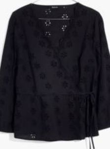 Madewell  Petite Scalloped Eyelet Wrap Top New MP